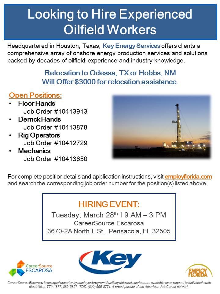 Key Energy Services Event Flyer
