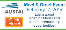 Austal Meet and Greet Event - February 17, 2015: Learn about open positions and paid apprenticeship opportunities!