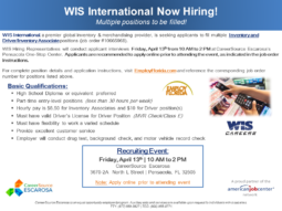 wis event flyer careersource escarosa