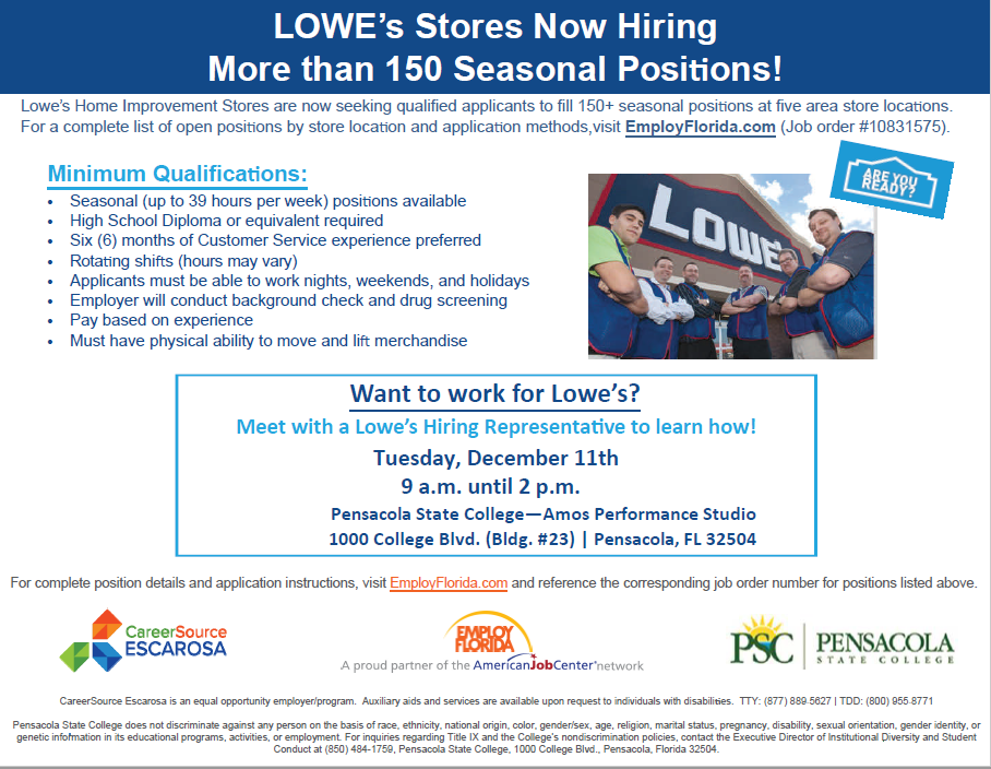 LOWES - CareerSource Escarosa